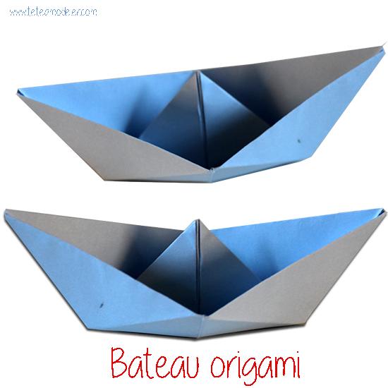 bateau en origami origami t te modeler. Black Bedroom Furniture Sets. Home Design Ideas