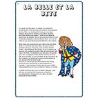 imprimer le conte La Belle et la Bête en pdf