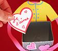 mettre les coeurs dans la boite