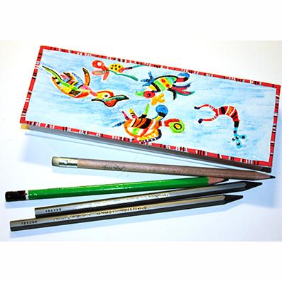 Boite à crayons à la manière de Kandinsky