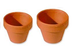 1 petit et 1 grand pot de terre