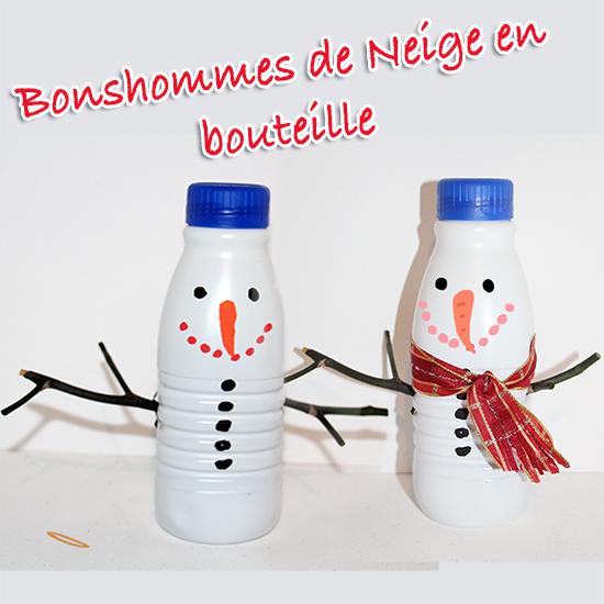 Bonhomme de neige en bouteille