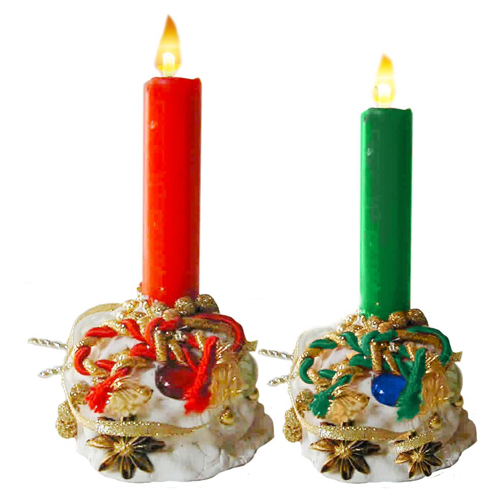 Bougeoir baroque de Noël avec la pâte à sel