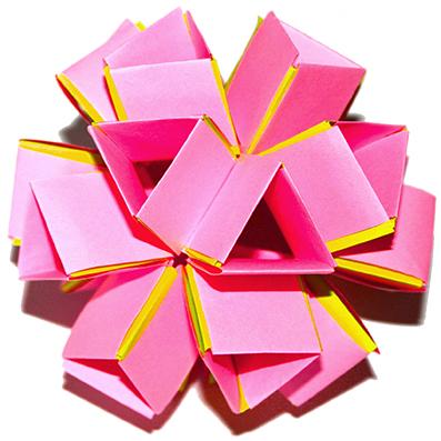 Boule origami en volume
