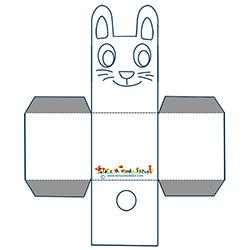 Lapin corbeille Pâques à colorier