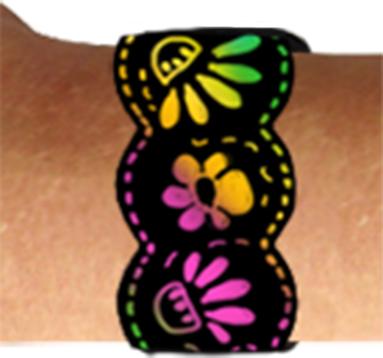 Idée bracelet en carte à gratter