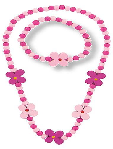 Collier et bracelet petites fleurs