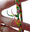 Fermer le bracelet en élastique