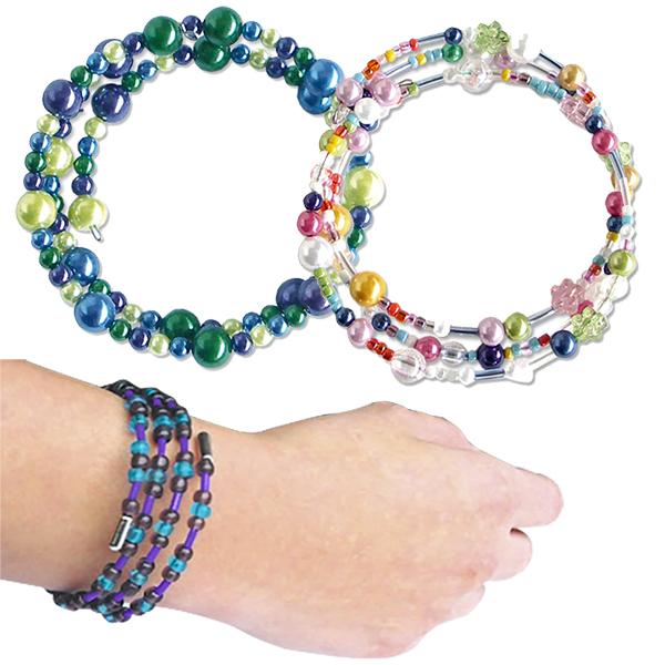 Bracelets guirlandes à mémoire de forme