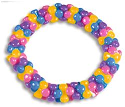 Bracelet multicolore en perles techno