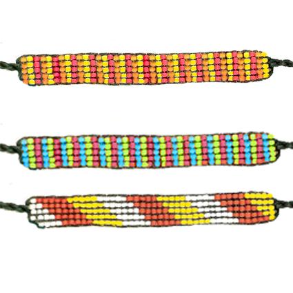 Bracelets en tissage de perles de rocailles