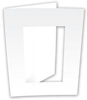 Cadre en carton blanc