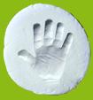 Empreinte de la main de bébé