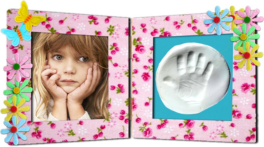 Cadeau photo empreinte main ou pied pour Maman