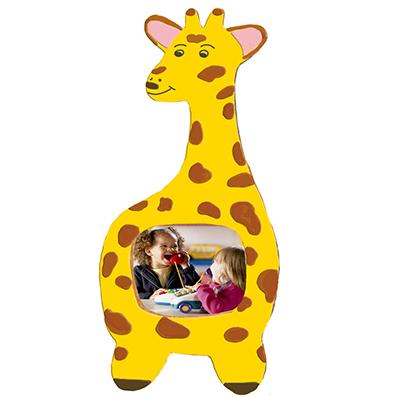 Cadre photo girafe en bois