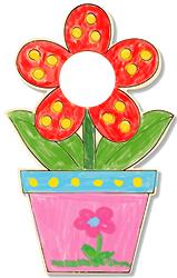 Colorier le pot de fleur entier