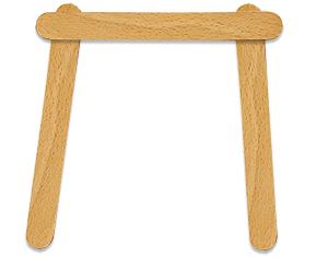 Ajouter un bâton de bois en haut