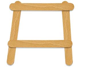 Former le cadre en bâtons de bois