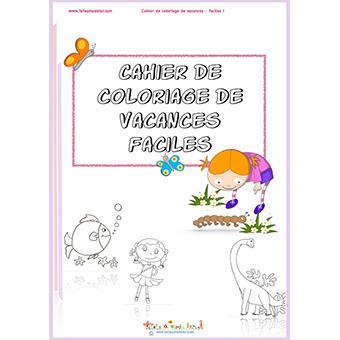 Cahier de vacances coloriage