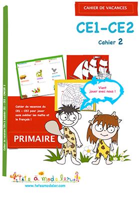 Cahier de vacances CE1 CE 2 cahier 2