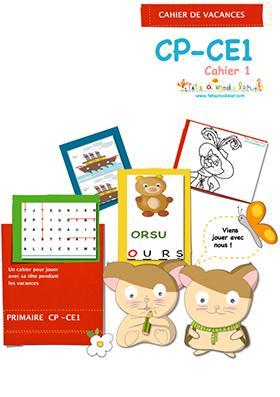 Cahier de vacances CP CE1 cahier 1