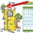 Colorier le calendrier 2014
