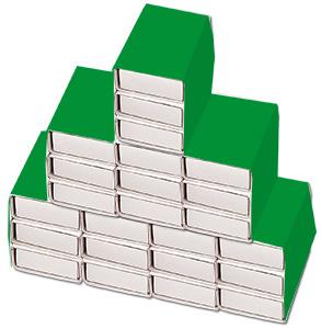 Couvrir avec une bande de papier vert