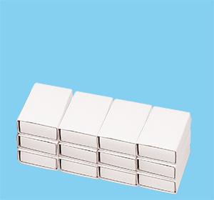 Coller un rang de 3 x 4 boites