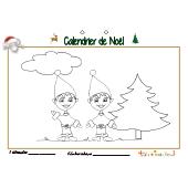 Calendrier de Noël page 1