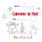 Couverture du calendrier de Noël