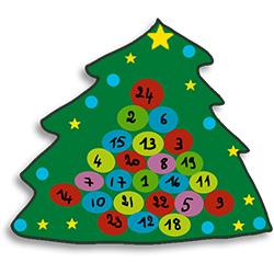 Décorer le dessus du calendrier de Noël