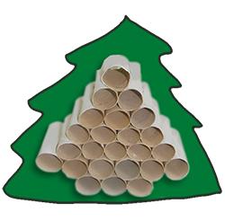 Coller les rouleaux au dos du sapin calendrier de Noël