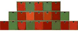Calendrier de Noël : 3 lignes de boites