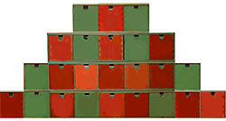 4 hauteurs de boites pour le calendrier