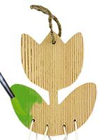 Peindre les feuilles du carillon