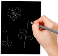 dessiner le motif au crayon