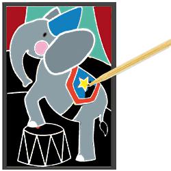 Réeler le dessin sur le cirque