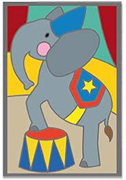 Carte à gratter éléphant du cirque