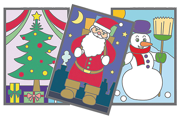 Carte à gratter  Noël