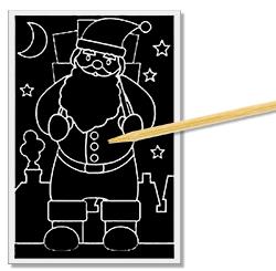 Commencer à gratter la carte de Noël