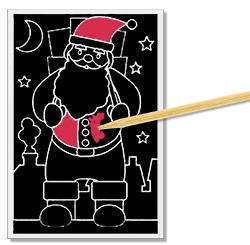 Gratter la carte de Noël