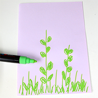 Commencer le dessin sur la nature