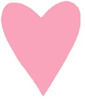Découper un coeur rose