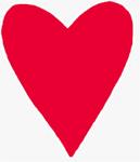 Découper un coeur rouge