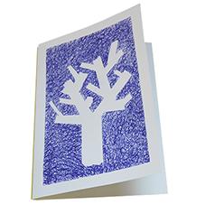Carte design arbre façon Patrick Guns