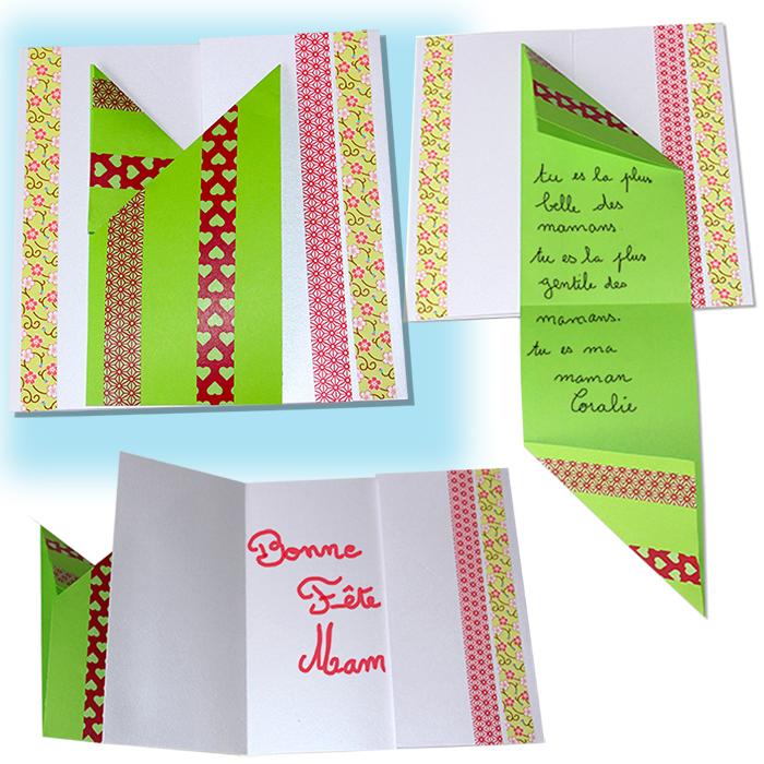 Carte fête des mères en origami
