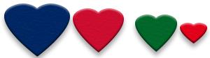 Découper les coeurs