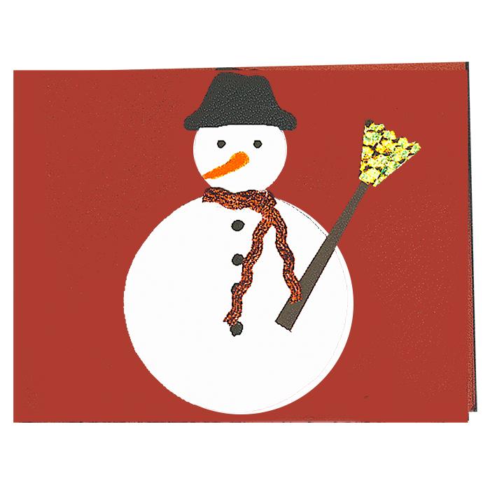 Carte de voeux bonhomme neige noel t te modeler - Modele bonhomme de neige ...