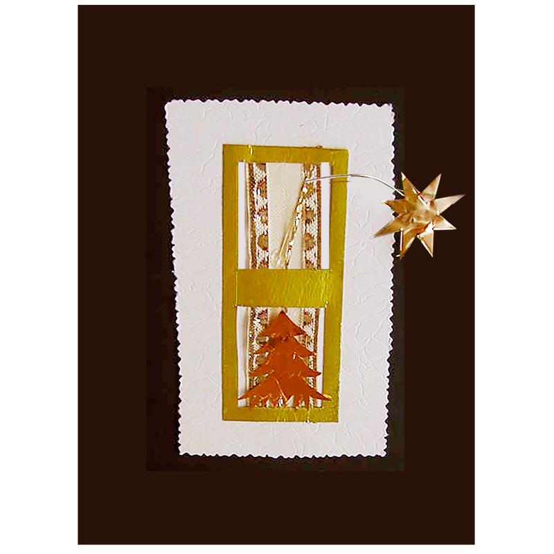 Carte de voeux fenêtre de Noël