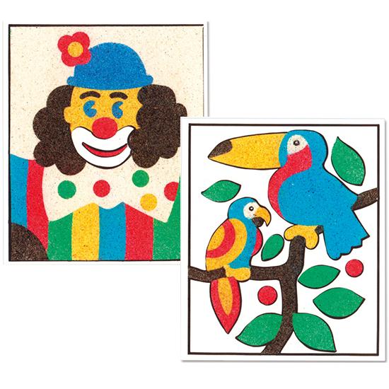 Cartes à sabler, cartes à décorer avec du sable